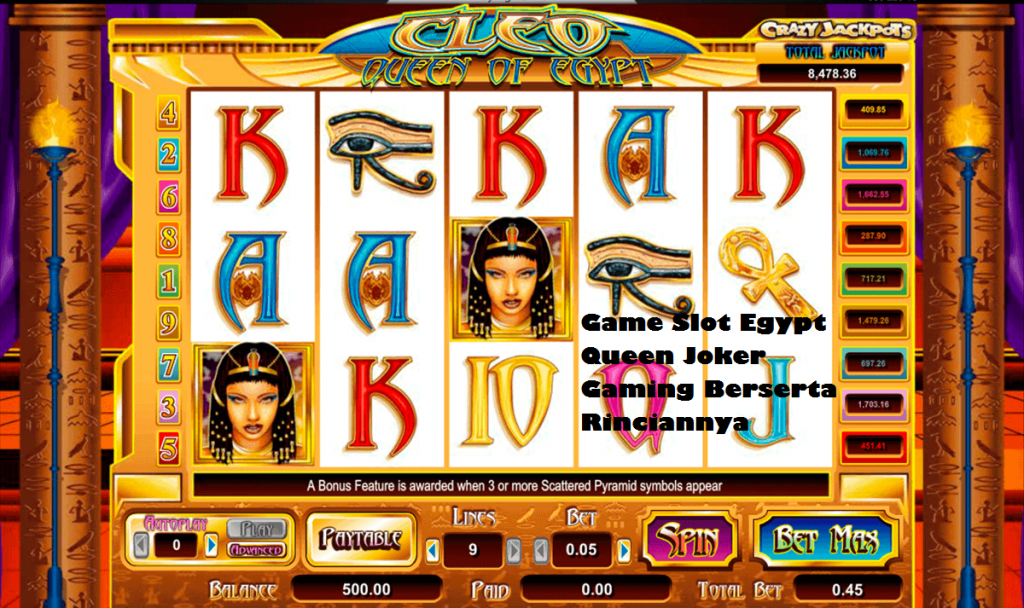 Game Slot Egypt Queen Joker Gaming Berserta Rinciannya